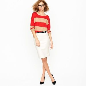 J.Crew No. 2 Pencil Skirt In Double Serge Cotton